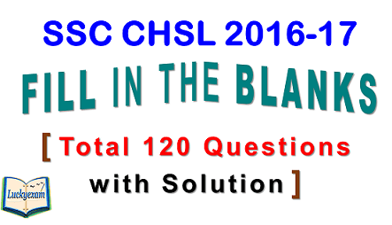 SSC CHSL Fill in the Blanks 2017