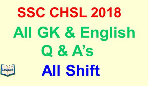 SSC CHSL 2018 Shiftwise