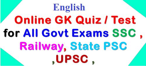 Online GK Quiz Question
