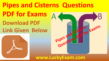 Pipes and Cisterns Questions PDF for Exams