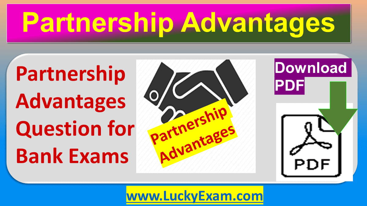 Partnership Advantages Question for Bank Exams