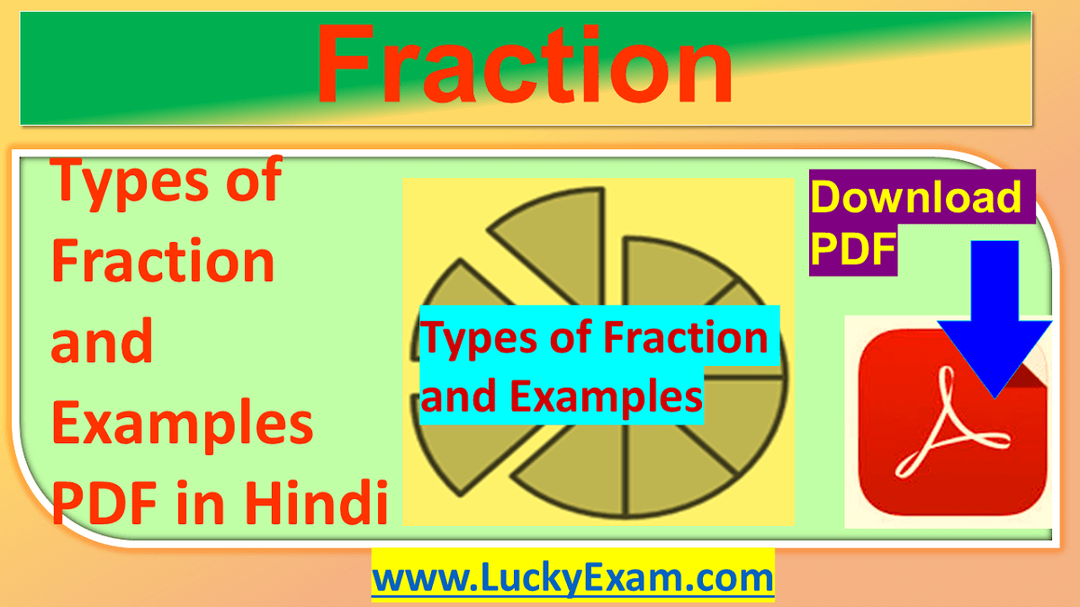 Types of Fraction and Examples PDF in Hindi