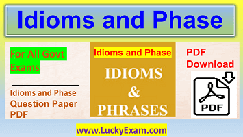 Idioms and Phrases PDF
