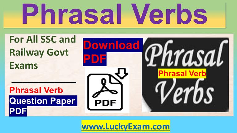 Phrasal Verbs Download PDF