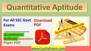Quantitative Aptitude Download PDF